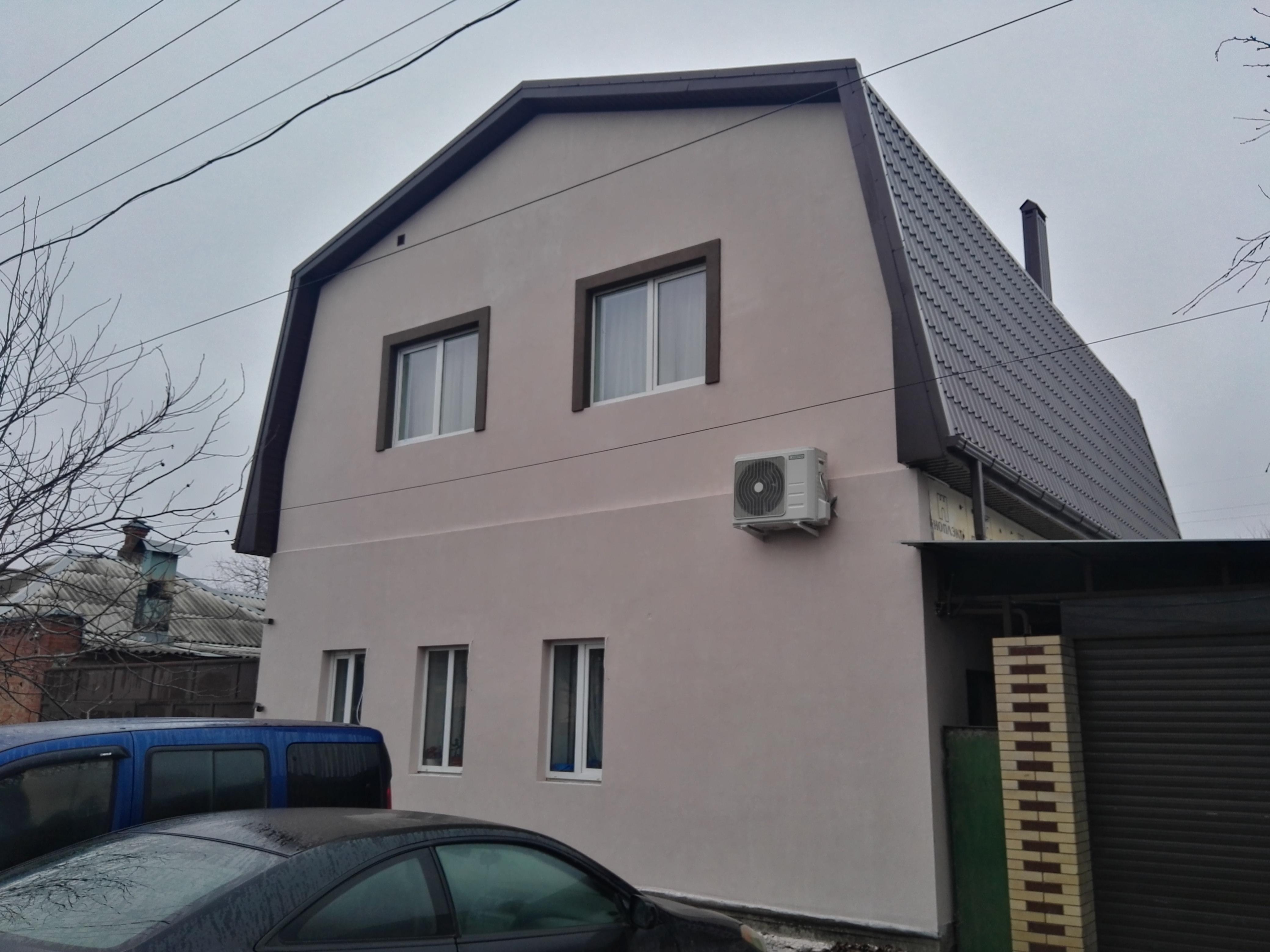 Покраска фасада по штукатурке видео